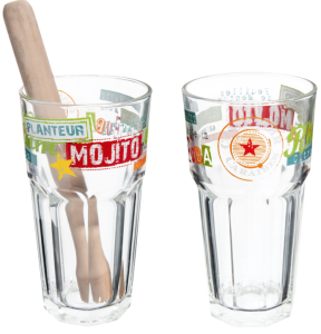 Coffret 2 verres à Mojito