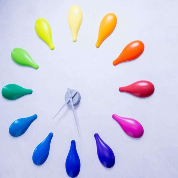 DIY Horloge colorée