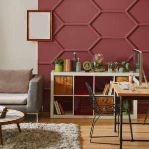 BRUNELLO - N°1874 Peinture rouge bordeaux teintée de brun