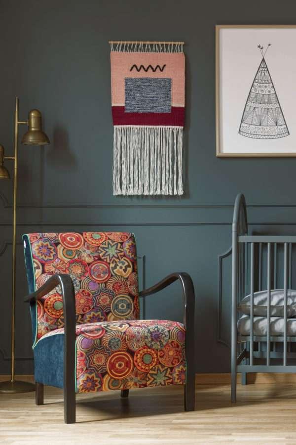 Chambre d'enfant colorée, mise en valeur par notre gris foncé LAVE GRISE - N°1987 Peintures 1825