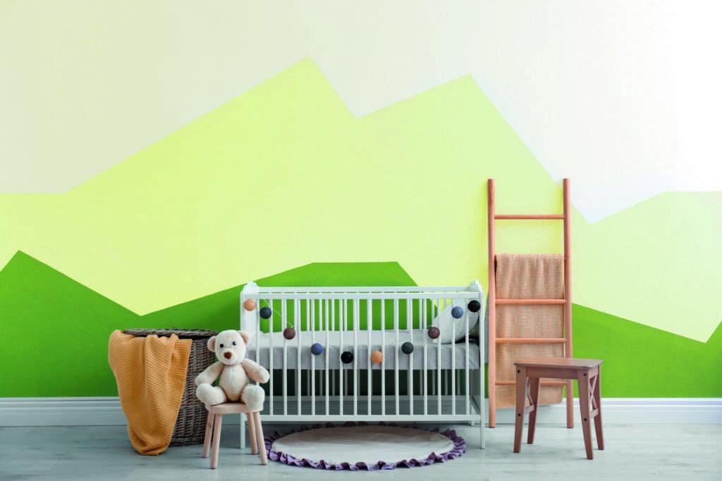 Chambre d'enfant, mise en valeur par notre vert pomme IRISH GREEN - N°2004 Peintures 1825