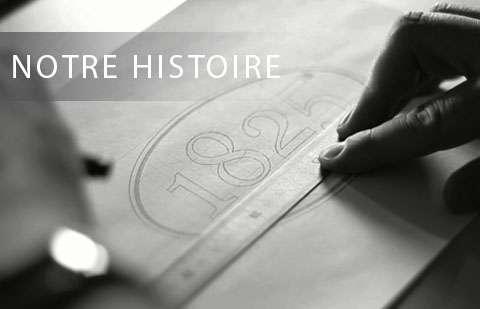 Catégorie Notre Histoire de Peintures 1825. Visuel de la création du logo Peintures 1825.